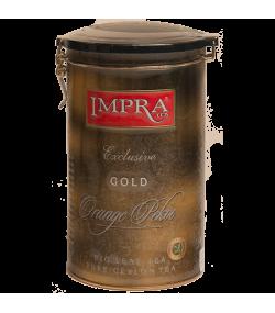 Impra | Black Loose Tea | Gold Metal Caddy