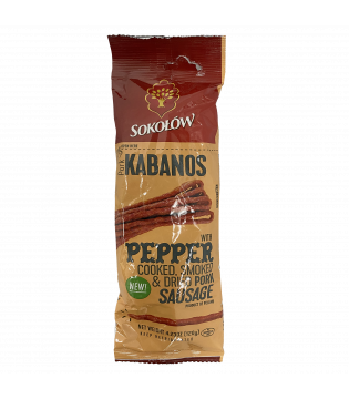Kabanosy   With Pepper   Sokolow   120g.